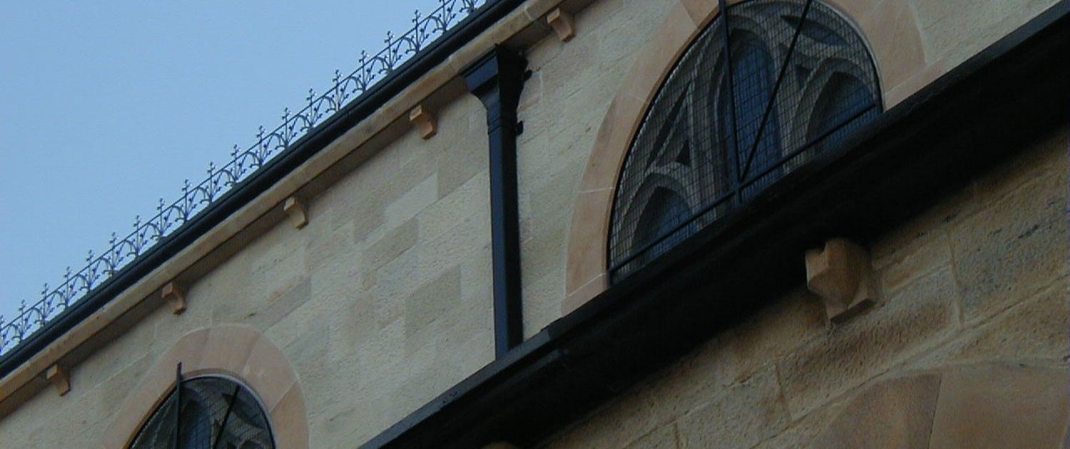 St. Peter's Cathedral, Belfast – Cast Aluminium Rainwater Products