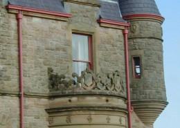Belfast Castle, Belfast – Cast Iron Radius Gutter – Painted Finish